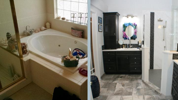Transitional Master Bath After