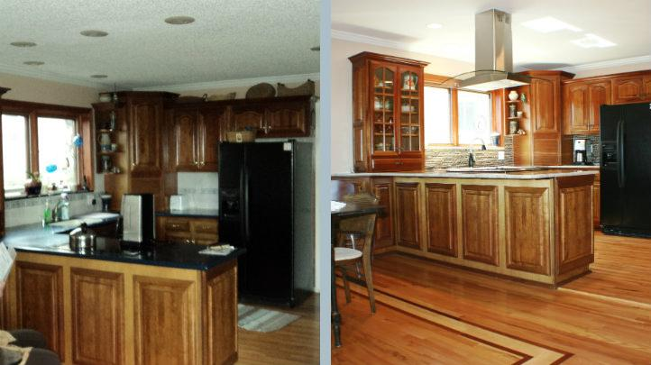 Updated with Glass and Slate Backsplash