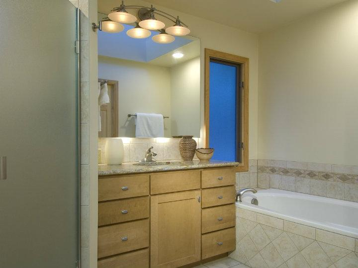 Remodeled Bathroom With New Vanity Lighting