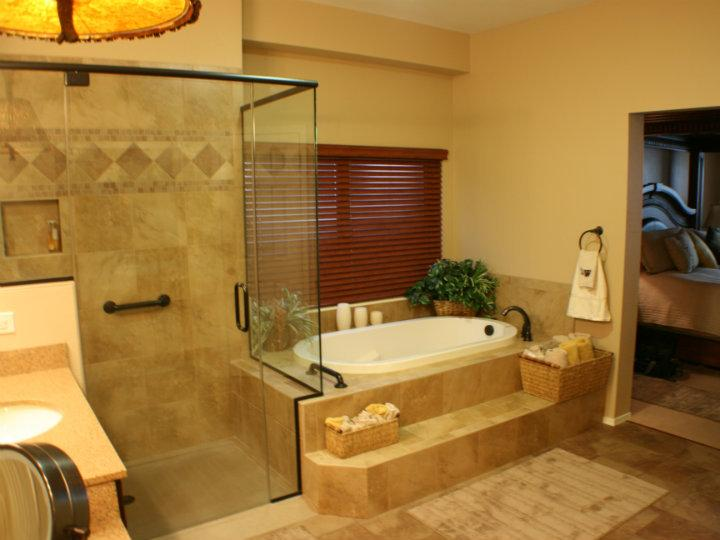 Step Up Tub With Stand Shower After Remodeling Master Bathroom
